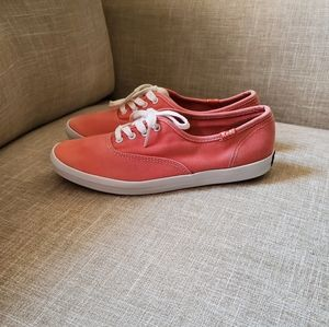 Keds coral pink shoes